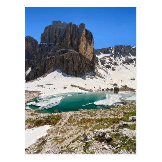 Dolomiti - Pisciadu lake Postcard