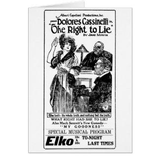 Dolores Cassinelli Mack Sennett 1921 silent ads Card