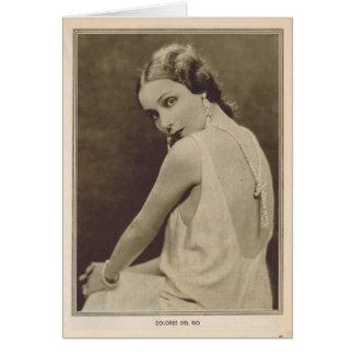 Dolores Del Rio 1930 vintage portrait Card