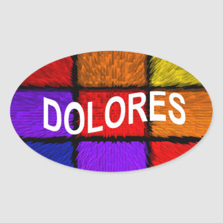 DOLORES OVAL STICKER