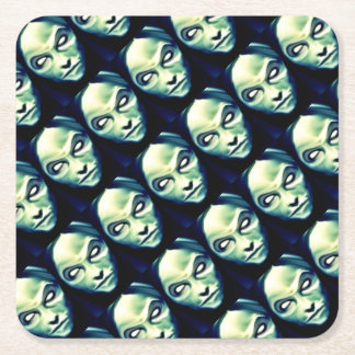 DOLOROUS devil Halloween,party supplies Square Paper Coaster