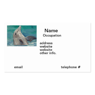 Dolphin aceo Business Cards