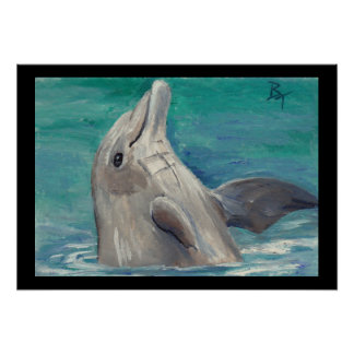 Dolphin aceo Poster Print