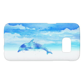 Dolphin and Sky Watercolor