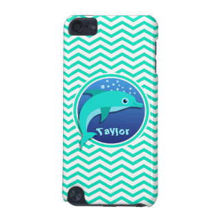 Dolphin Aqua Green Chevron iPod Touch 5G Covers