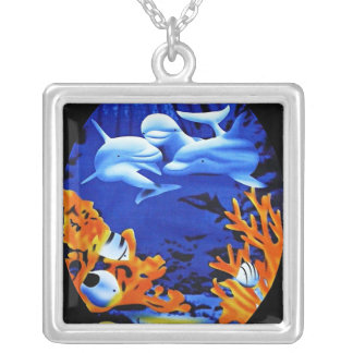 Dolphin art necklace