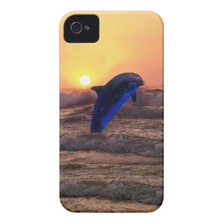 Dolphin at sunset iPhone 4 Case-Mate cases