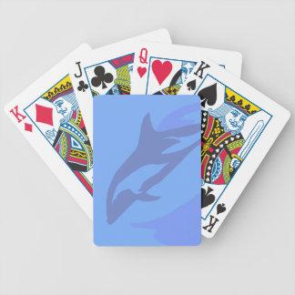 Dolphin Background Poker Deck