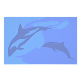 Dolphin Background Stationery
