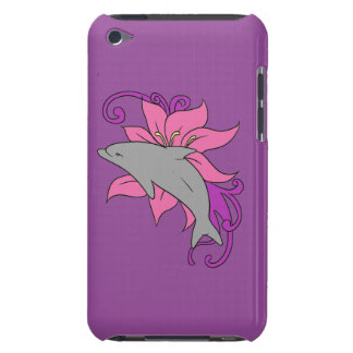 Dolphin Beside a Lily Barely There iPod Cover
