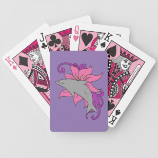 Dolphin Beside a Lily Bicycle Playing Cards