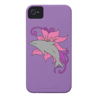 Dolphin Beside a Lily Case-Mate iPhone 4 Case