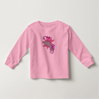 Dolphin Beside a Lily Toddler T-Shirt