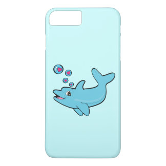 Dolphin Blowing Heart-Filled Bubbles iPhone 7 Plus Case