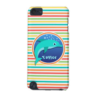 Dolphin Bright Rainbow Stripes iPod Touch (5th Generation) Cases