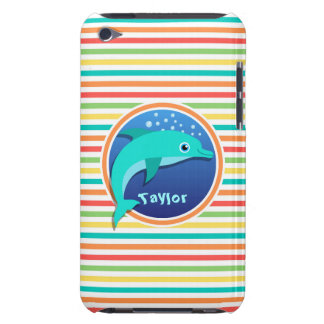 Dolphin Bright Rainbow Stripes iPod Touch Case-Mate Case