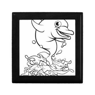 Dolphin Cartoon Character Splashing Gift Box