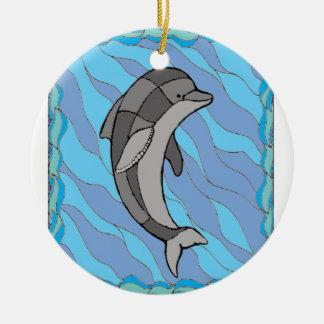 Dolphin Ceramic Ornament
