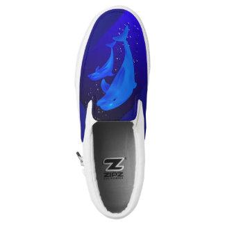 Dolphin Cobalt Blue Ocean Sea Slip On Sneakers