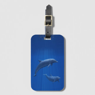 Dolphin Couple Luggage Tag