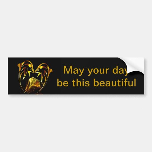 Dolphin crystal love bumper stickers