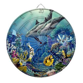 Dolphin Dart Board- environmental Artist Apollo Dart Boards