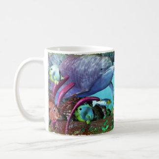 Dolphin Discovery 2 3D Aquarium Basic White Mug