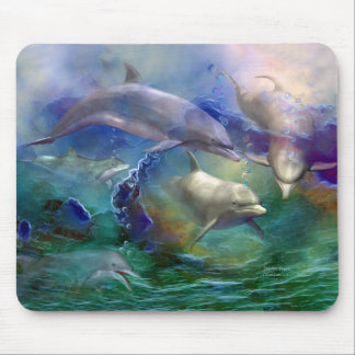 Dolphin Dream Art Mousepad