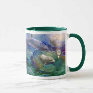 Dolphin Dream Art Mug