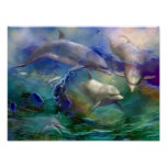 Dolphin Dream Art Poster/Print Poster