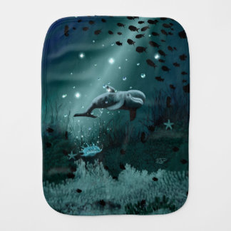 Dolphin Dream Burp Cloth