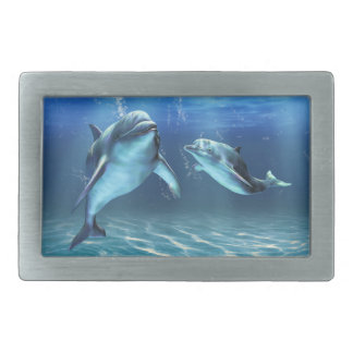 Dolphin Dream Rect Belt Buckle