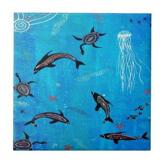 Dolphin Dreaming Ceramic Tile