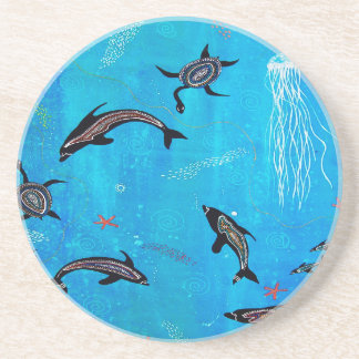 Dolphin Dreaming Drink Coasters