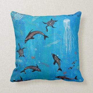Dolphin Dreaming Pillow/Cushion Throw Cushion