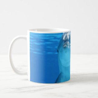 Dolphin face up close coffee mug