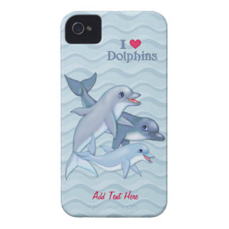 Dolphin Family Case-Mate iPhone 4 Covers
