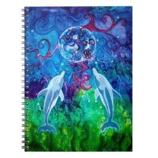 Dolphin Gaze 6.5 x 8.75 Notebook