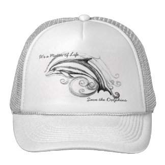Dolphin Hat all in White