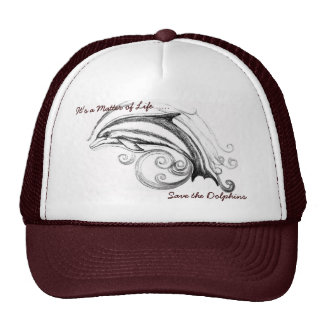 Dolphin Hat in Maroon & White