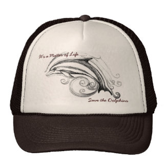 Dolphin Hat in Tan & Brown