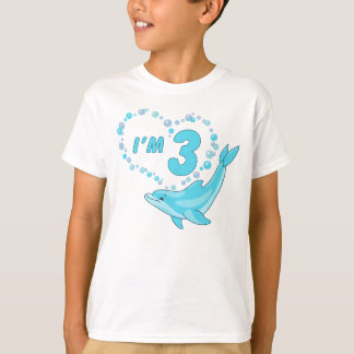 Dolphin Heart 3rd Birthday T-Shirt