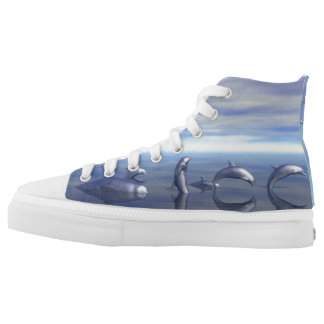 Dolphin High Top Printed Shoes