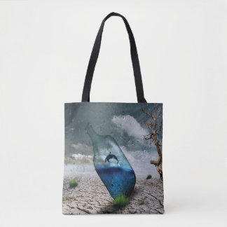 Dolphin In A Bottle Tote Bag