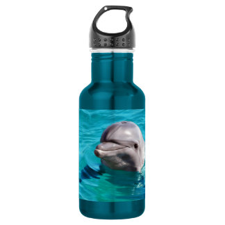 Dolphin in Blue Water Photo 532 Ml Water Bottle