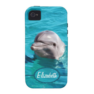 Dolphin in Blue Water Photo Case For The iPhone 4