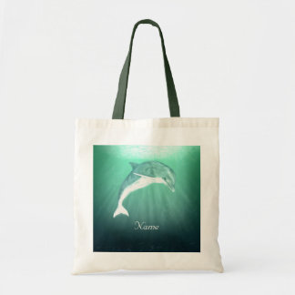 Dolphin in Emerald Sea Tote Bag