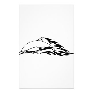 Dolphin in Flames Custom Stationery