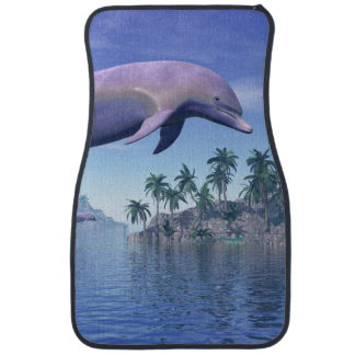 Dolphin in the tropics - 3D render Car Mat