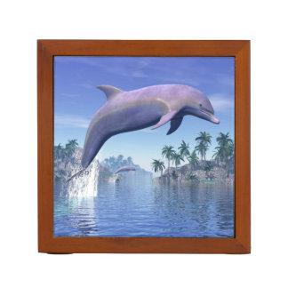 Dolphin in the tropics - 3D render Desk Organiser